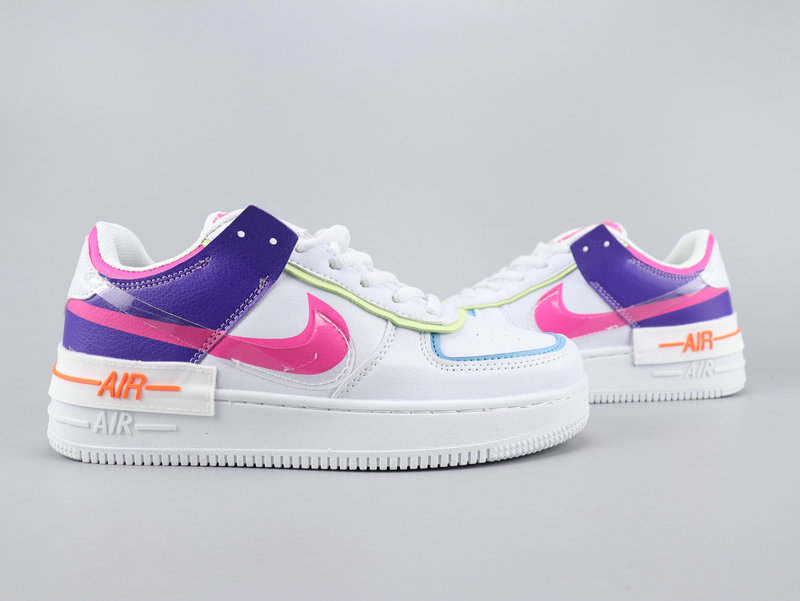 2020 Nike Air Force 1 Shadow White Pink Blue For Women